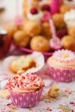 Birthday cupcake with sprinkles Royalty Free Stock Image