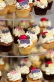 Birthday cupcake stand Royalty Free Stock Photo