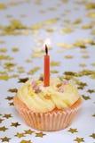 Birthday cupcake with stars Stock Photos