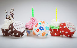 Birthday cupcake Stock Photos