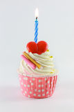 Birthday cupcake Stock Images