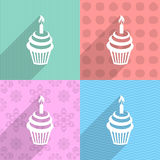 Birthday cupcake stock illustration