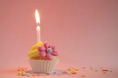 Birthday cupcake Stock Images