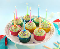 Birthday Cupcakes Stock Image