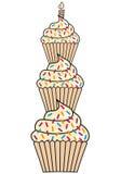 Birthday cupcakes,  Stock Image