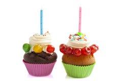 Birthday cupcakes Stock Image
