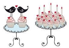 Birthday Cupcakes, Royalty Free Stock Photos