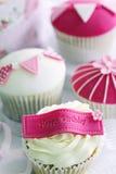 Birthday cupcakes royalty free stock photo