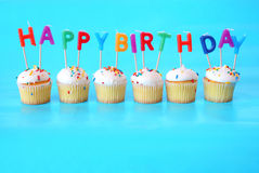 Birthday Cupcakes Stock Photography