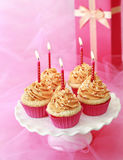 Birthday cupcakes Royalty Free Stock Photography