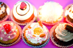 Birthday cupcakes. Beautifully Delicious on background royalty free stock image