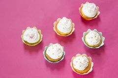 Birthday cupcakes stock images