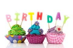 Birthday cupcakes Stock Images