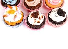 Birthday cupcakes Stock Photos