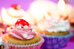 Birthday cupcakes Royalty Free Stock Photos