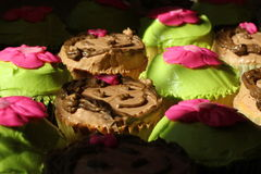 Birthday Cupcakes - Monkeys / Flowers Stock Photography