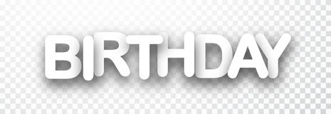 Birthday 3d checkered banner. Stock Image