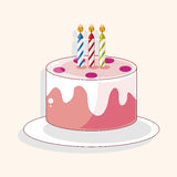 Birthday decorating cake theme elements Royalty Free Stock Image