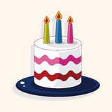 Birthday decorating cake theme elements Stock Photo