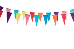 Birthday decoration flags. Isolated on white background Royalty Free Stock Image
