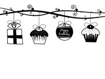 Birthday decorations Stock Photos