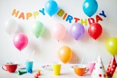 Birthday decorations Stock Photography