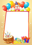 Birthday decorative border Royalty Free Stock Image
