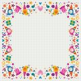 Birthday decorative border Stock Image