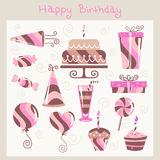 Birthday design elements Stock Image