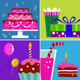 Birthday design elements Stock Photo