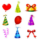 Birthday design elements vector Royalty Free Stock Photos