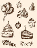 Birthday design elements Royalty Free Stock Images