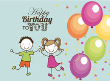 Birthday design Stock Photos