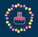 Birthday design Royalty Free Stock Image