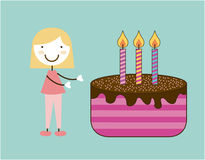 Birthday design Stock Photo