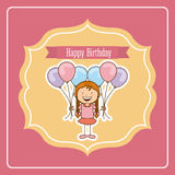 Birthday design Stock Photography