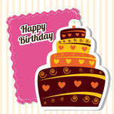 Birthday design Royalty Free Stock Photography