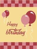 Birthday design. Birthday  design over  pink  backgrund vector illustration Royalty Free Stock Images