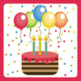 Birthday design Royalty Free Stock Photo