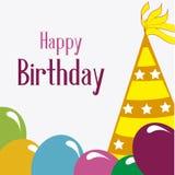 Birthday design. Birthday  design over white  backgrund vector illustration Stock Images