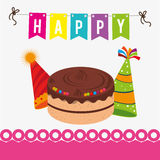 Birthday design, vector illustration. Royalty Free Stock Photo