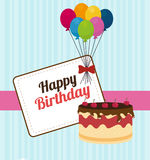 Birthday design, vector illustration. Royalty Free Stock Images