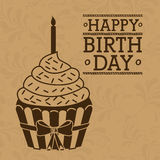 Birthday design, vector illustration. Royalty Free Stock Photography