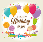 Birthday design, vector illustration. Royalty Free Stock Photos