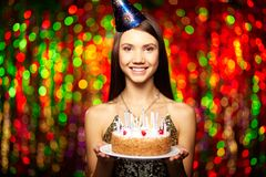 Birthday dessert Royalty Free Stock Image