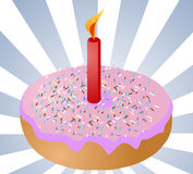 Birthday donut Stock Image
