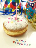 Birthday donut Stock Photo