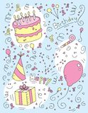 Birthday Doodle Royalty Free Stock Images