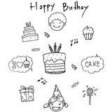 Birthday doodle vector art element Royalty Free Stock Images