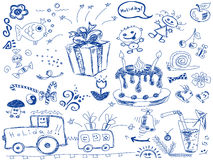 Birthday doodles Stock Photo